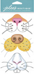Animal Noses Dimensional Stickers - Jolees