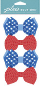Fun Bow Ties Dimensional Stickers - Jolees