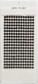 Black Gem Stickers, 6 mm
