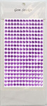 Lavender Gem Stickers, 6 mm