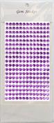Lavender Gem Stickers, 6 mm