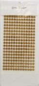 Antique Gold Gem Stickers, 6 mm