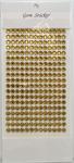 Gold Gem Stickers, 6 mm