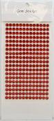 Red Gem Stickers, 6 mm