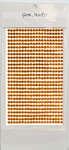 Orange Gem Stickers, 4 mm