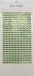 Apple Green Gem Stickers, 4 mm