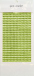 Lime Green Gem Stickers, 4 mm