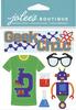 Geek Chic Dimensional Stickers - Jolees