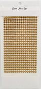 Gold Gem Stickers, 5 mm