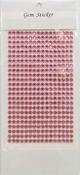 Pink Gem Stickers, 5 mm