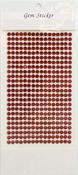 Ruby Gem Stickers, 5 mm