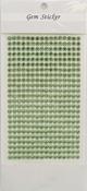 Apple Green Gem Stickers, 5 mm