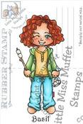 Basil - Little Miss  Muffet Stamp