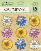 Foliage Flower Clearly Yours Stickers - Tim Coffey - K & Company