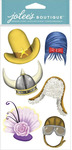 Hats Dimensional Stickers - Jolees