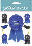 Graduation Caps & Ribbons Stickers - Jolees