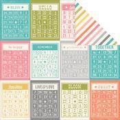Bingo Cards/Diagonal Stripe Paper - Vintage Bliss - Simple Stories