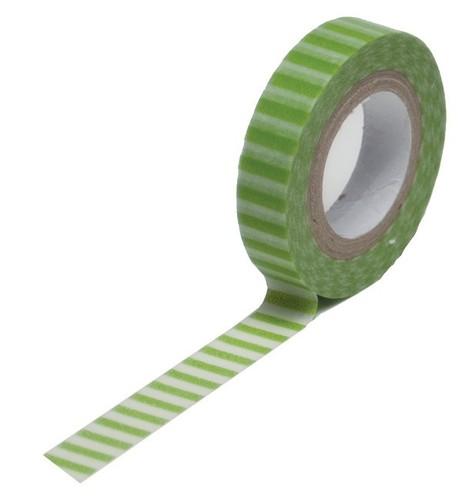 Green Stripe Skinny Washi Tape - Queen & Co