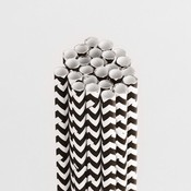 Licorice Chevron Stylish Stix - Queen & Co