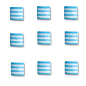 Blueberry Bliss Square Candy Stripers - Queen & Co