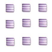 Grape Ape Square Candy Stripers - Queen & Co