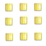 Lemon Drop Square Candy Stripers - Queen & Co
