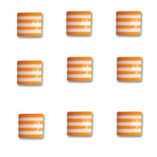 Orange Crush Square Candy Stripers - Queen & Co