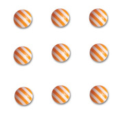 Orange Crush Round Candy Stripers - Queen & Co