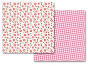 Girl Flowers/Herringbone Paper - Queen & Co