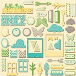 Chilled Cucumber Soup Pea Pod Parts Die Cuts - Jillibean Soup