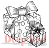Gift Boxes Rubber Stamp - Deep Red Stamps