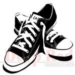 All Star Sneakers Rubber Stamp - Deep Red Stamps