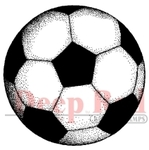 Soccer Ball Rubber Stamp - Deep Red Stamps
