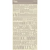 Mushroom Gray Alphabean Stickers - Jillibean