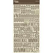 Fig Brown Alphabean Stickers - Jillibean