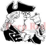 Town Crier Rubber Stamp - Deep Red Stamps