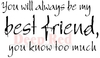 Best Friend Forever Rubber Stamp - Deep Red Stamps