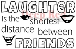 Laughter Between Friends Rubber Stamp - Deep Red Stamps