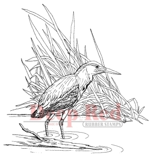 Sandpiper Rubber Stamp - Deep Red Stamps