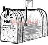 Outgoing Mail Rubber Stamp - Deep Red Stamps
