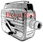 Movie Camera Rubber Stamp - Deep Red Stamps