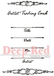ATC Flourish Rubber Stamp - Deep Red Stamps