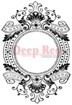 Baroque Frame Rubber Stamp - Deep Red Stamps