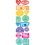 Love Conquers Label Stickers