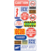 Caution Label Stickers - Stickofy UR Life - Sticko