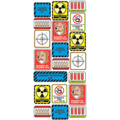 Zombie Survival Label Stickers - Stickofy UR Life -Sticko