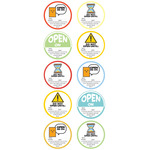 Open On Canning Label Stickers - Stickofy UR Life - Sticko