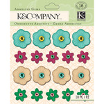 Cool Plastic Floral Gems - Handmade - K And Company