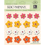Warm Plastic Floral Gems - Handmade - K And Company