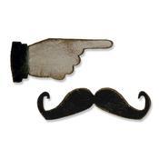 Mini Mustache & Pointed Finger 2 Piece Die Set - Tim Holtz